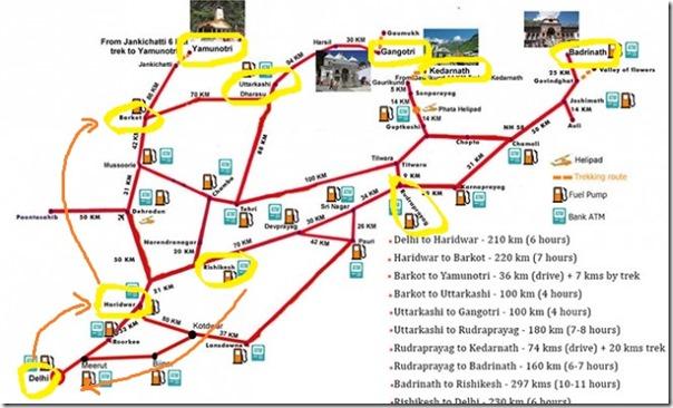 route map (strzałki)